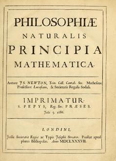 كتاب الأصول الرياضية للفلسفة الطبيعية لنيوتن