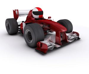 قوانين نيوتن وتطبيقاته- سيارة سباق