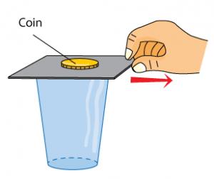 أمثلة على قانون نيوتن الأول (القصور الذاتي)